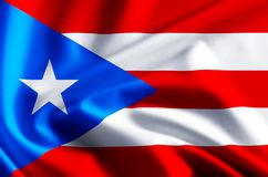 Иллюстрация флага Пуэрто-Рико бесплатная иллюстрация