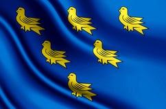 Иллюстрация флага Сассекс реалистическая иллюстрация штока
