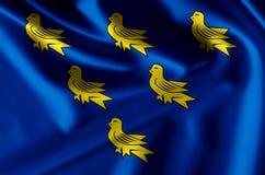 Иллюстрация флага Сассекс реалистическая бесплатная иллюстрация