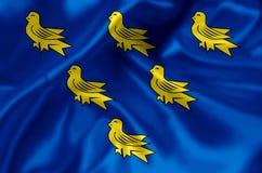 Иллюстрация флага Сассекс иллюстрация вектора