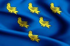 Иллюстрация флага Сассекс иллюстрация штока