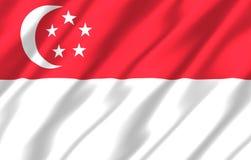 Иллюстрация флага Сингапура реалистическая бесплатная иллюстрация