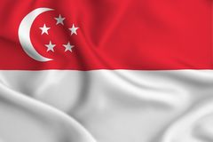 Иллюстрация флага Сингапура иллюстрация вектора