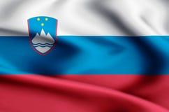 Иллюстрация флага Словении иллюстрация вектора