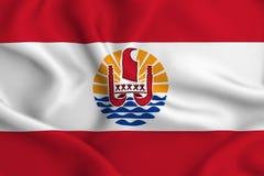 Иллюстрация флага Французской Полинезии бесплатная иллюстрация