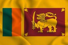 Иллюстрация флага Шри-Ланка иллюстрация штока