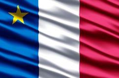 Иллюстрация флага Acadia реалистическая иллюстрация штока