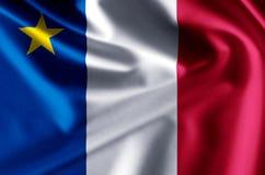 Иллюстрация флага Acadia реалистическая бесплатная иллюстрация