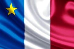 Иллюстрация флага Acadia иллюстрация штока