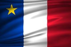 Иллюстрация флага Acadia бесплатная иллюстрация