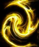 иллюстрация фрактали пожара Стоковое Фото