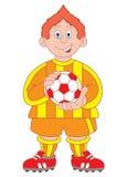 иллюстрация футболиста шаржа Стоковое Изображение RF