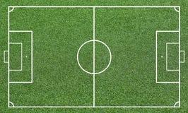 Иллюстрация футбольного поля Предпосылка футбольного поля или футбольного поля Стоковые Изображения