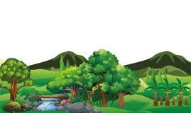 Иллюстрация хорошей практики земледелия: Поле ладони иллюстрация штока