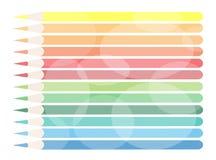 Иллюстрация цветастых покрашенных карандашей Backgr Стоковые Фотографии RF