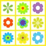 иллюстрация цветка ретро Стоковые Изображения RF