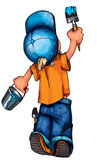 иллюстрация чертежа мальчика немногая Стоковая Фотография