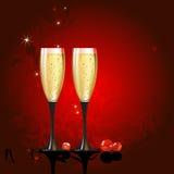 иллюстрация шампанского Стоковое фото RF
