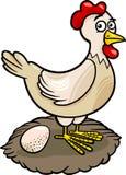 Иллюстрация шаржа животноводческой фермы курицы Стоковые Изображения