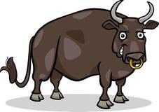 Иллюстрация шаржа животноводческой фермы Bull иллюстрация вектора