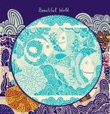 Иллюстрация шаржа с китом Стоковое Фото