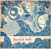 Иллюстрация шаржа с китом Стоковые Изображения