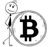 Иллюстрация шаржа усмехаясь склонности бизнесмена Стоковая Фотография RF