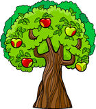 Иллюстрация шаржа яблони Стоковые Изображения RF
