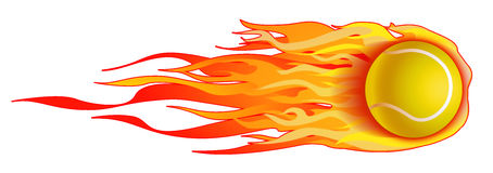 иллюстрация шарика пламенеющая изолировала теннис Стоковое Изображение RF