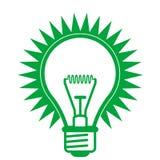 Иллюстрация электрической лампочки Стоковое Изображение