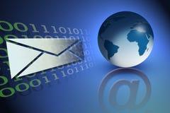 иллюстрация электронной почты принципиальной схемы Стоковая Фотография