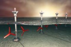 иллюстрация энергии приливная Стоковые Фото