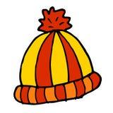 иллюстрация эскиза шаржа doodle шляпы зимы иллюстрация вектора