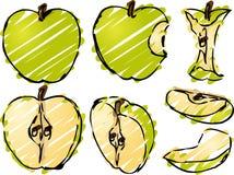 иллюстрация яблока Стоковые Фотографии RF