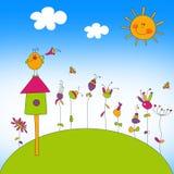 иллюстрация детей Стоковые Изображения RF