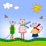 иллюстрация детей Стоковая Фотография RF