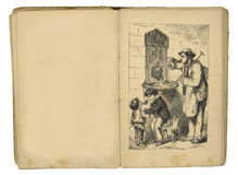 иллюстрация 1884 детей книги Стоковое фото RF