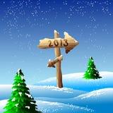 Иллюстрация 2013 Новый Год Стоковое Фото