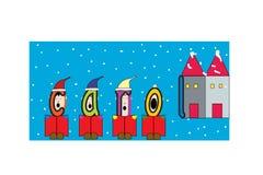 Иллюстрация caroler рождества Стоковые Фотографии RF