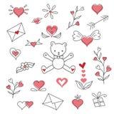 Иллюстрация clipart вектора дня валентинок Стоковые Изображения RF