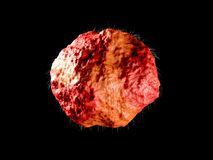 иллюстрация 3d бактерий вируса семенозачатка изолировала черное стоковое фото