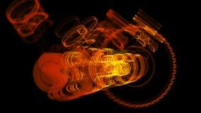 иллюстрация 3D железной молекулы сделанная из нержавеющей стали Стоковое фото RF