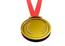 Иллюстрация 3d золотой медали Иллюстрация вектора