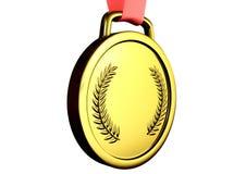 Иллюстрация 3d золотой медали Иллюстрация штока