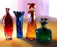 Иллюстрация 3d искусства творческая стекла crystall покрасила вазу Стоковое фото RF