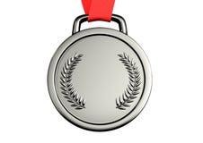 Иллюстрация 3d серебряной медали Иллюстрация штока