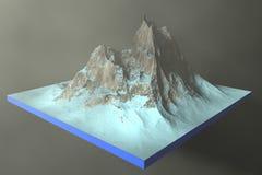 иллюстрация 3d скалистые горы на абстрактной предпосылке иллюстрация вектора