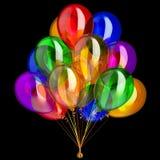 иллюстрация 3d украшения партии воздушных шаров с днем рождения Стоковая Фотография