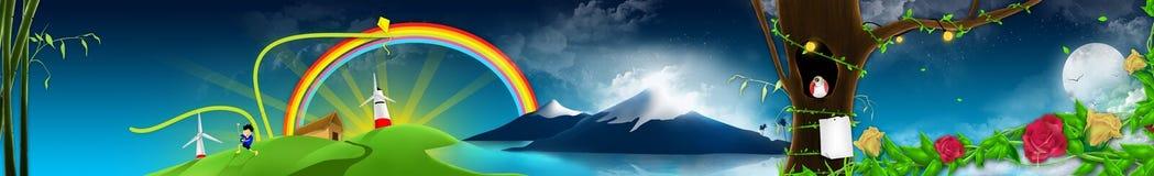 иллюстрация eco Стоковое Изображение