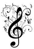 иллюстрация g clef схематическая Стоковые Изображения